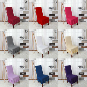 1PC Chair Seat Covers Slip Stretch Wedding Banquet Party Removable Chair Home