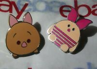 2 Different Tsum Tsum Piglet Walt Disney Winnie the Pooh Pig Character Pin Lot