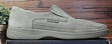 Mens MEPHISTO Olive Grey Suede Slip-on Shoes US 13 Air-Jet w/ Shock Absorber