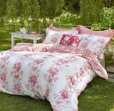 CABBAGE & ROSES CHARLOTTE KING SIZE DUVET COVER & 2 PILLOWCASES 100% COTTON