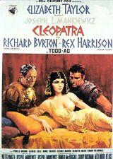 Cleopatra Poster Riproduzione Originale Italia Taylor Burton Mankiewicz 70x100cm