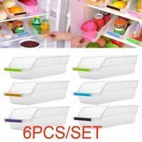 Kitchen Fridge Space Saver Organizer Slide Shelf Rack Home Holder Storage Box AU