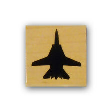 F-14 Fighter Jet silhouette mounted rubber stamp, USAF, aviation military CMS #4