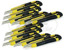 10 x Cuttermesser mit 18mm Trapezklinge - Günstiges Set für Heimwerker und Profi