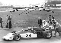 Brian Henton SIGNED,10x8 , F1 March 761B , Race Of Champions  Brands Hatch 1977