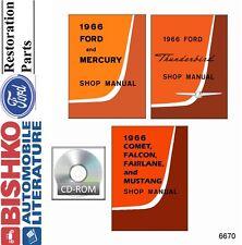 1966 Ford Shop Service Manual Repair Book CD Engine Drivetrain Electrical Guide