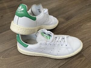 Adidas Originals Stan Smith Ultra Boost Mens White  & Green Trainers UK9