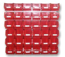 NEW PLASTIC PARTS STORAGE BIN KIT BK25 RED - 36 x TC3 & 2 x LOUVRE PANELS HLP