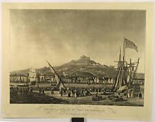 Aquatinte de Garneray, Ville et port de Marseille