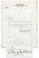 General Mark W. Clark Signed Typed Letter Signed JSA