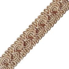 Posamentenborte 16 mm (1,0 €/m)  Altgold Beige Schmuckband  Bordüre Brokatborte