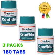 3x Himalaya Confido | For Strong Erections Sexual Health Herbal | 180 Tabs