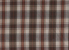 Brown Check Polyester Viscose Fabric (150cm wide)