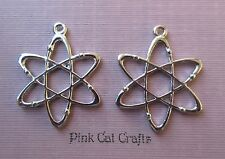 5 x ATOM CHEMICAL SCIENCE Tibetan Silver Charms Pendants Beads