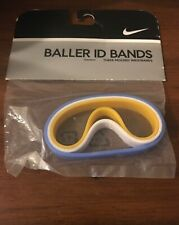 Nike Baller ID Bands Wristbands Bracelets New In Package White Blue Yellow