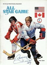 1975-76 WHA ALL-STAR GAME PROGRAM  SIGNED BOBBY HULL SCG A Free S&H