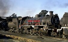 PHOTO  SOUTH AFRICAN RAILWAYS -  NORTH BRITISH BUILT CLASS 24 2-8-4S. AT SPINGS
