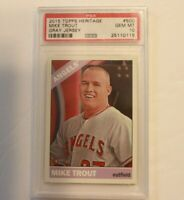 2015 Topps Heritage Gray Jersey SP Mike Trout #500 PSA 10 GEM MINT