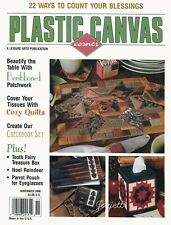 Plastic Canvas Corner Magazine ~ November 2000, 22 plastic canvas projects