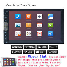 7 Inch Double 2 Din Car Dvd Player Mirror Fm Touch Radio for Android Phone Gps