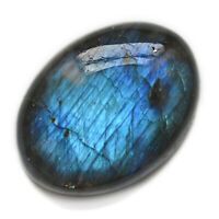 Cts 26.20 Natural Fine Blue Fire Labradorite Cabochon Oval Loose Gemstone