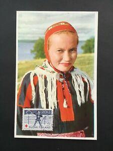 FINLAND 1960 POSTCARD ULVILA POSTMARK