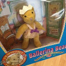 "1995 TYCO VERMONT TEDDY BEAR POCKET COLLECTION ""Ballerina Bear"" NEW in Box"