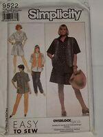 Pants Culottes Over sized Shirt Vest Size ALL 9522 Simplicity Sewing Pattern UC