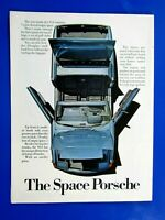 """1971 Porsche 914 The Space Porsche Original Print Ad 8.5 x 11"""""""