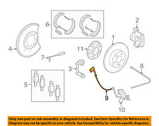 MERCEDES OEM ABS Anti-lock Brakes-Rear Speed Sensor 2045400317