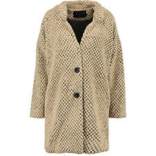 Cappotti e giacche da donna beige lunghezza lunghezza al ginocchio in misto lana