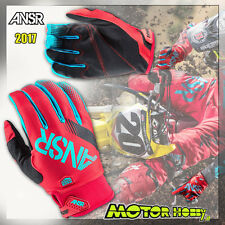 GUANTO CROSS ENDURO ANSWER SYNCRON 2017 CYAN RED TAGLIA M