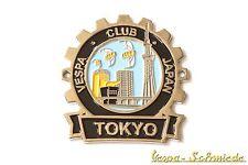"""METALLO-PLACCA """"VESPA CLUB Tokyo"""" - limitato a 100 pezzi in tutto il mondo Giappone!"""