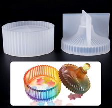 Resin Silicone Molds Epoxy Casting Mold Jewelry Storage Box Molds with Lid Craft
