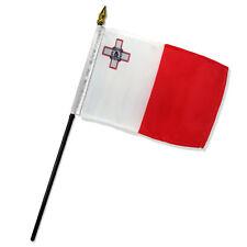 "Malta 4""x6"" Flag Desk Table Stick"