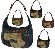 Damentaschen aus Kunstleder mit Tiermuster und Reißverschluss