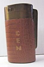 Bigelow Remembrance Advertising Table Lighter Excellent Spark CEM Vintage Brown