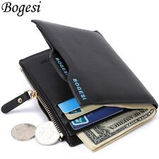 Casual Style Leather Men'S Short Large Capacity Wallet Credit Card Coin Purse