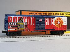 MTH RAIL KING BOSTON FIRE DEPARTMENT BOXCAR O GAUGE train car 30-74909 NEW