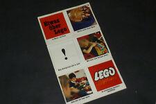 Alte Lego Werbung - Etwas über Lego an Mutter & Vater Faltblatt