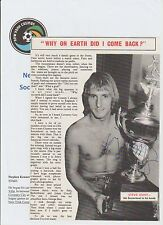 STEVE HUNT NEW YORK COSMOS 1977-1978 & 1982 ORIGINAL HAND SIGNED ANNUAL PICTURE
