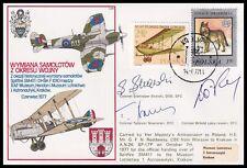 Polish Battle of Britain Aces SKALSKI, NOWIERSKI & LOKUCIEWSKI Signed RAF Cover