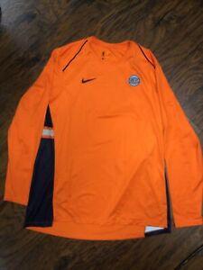 Men's XL Nike New York Knicks Dri Fit Long Sleeve Orange T Shirt- Size XL