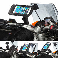 Motorcycle M6 M8 M10 Clamp Bolt Extended Mount + Case for Apple iPhone 6 6s 4.7
