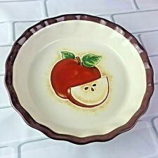 Apple Baking Deep Dish Pie Pan Pottery