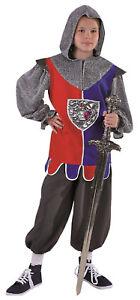 Ritter Kostüm Uniform Rüstung Gewand Jungen Kinder Prinz Löwenherz König Ivanhoe