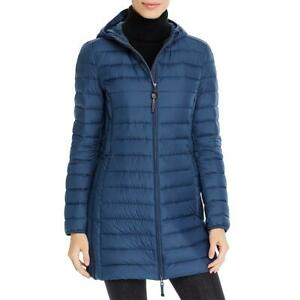 Parajumpers Womens Irene Blue Winter Down Quilted Coat Outerwear XS BHFO 4518