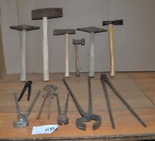 12 antique blacksmith tools tongs hammer nipper collectible forge tools early