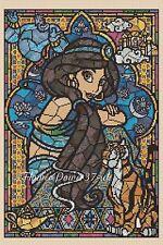 Disney Princess Jasmine Stained Glass  Cross stitch chart 359 FlowerPower37-uk