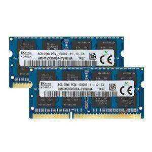 Hynix 16 GB 2X 8GB 2RX8 DDR3L 1600MHz PC3L-12800S SODIMM Laptop RAM 1.35V Memory
